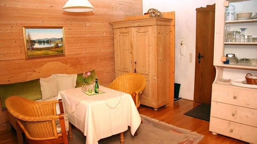 Ferienwohnung Edelsberg Wohnzimmer